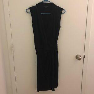 All Saints Black Wrap Dress